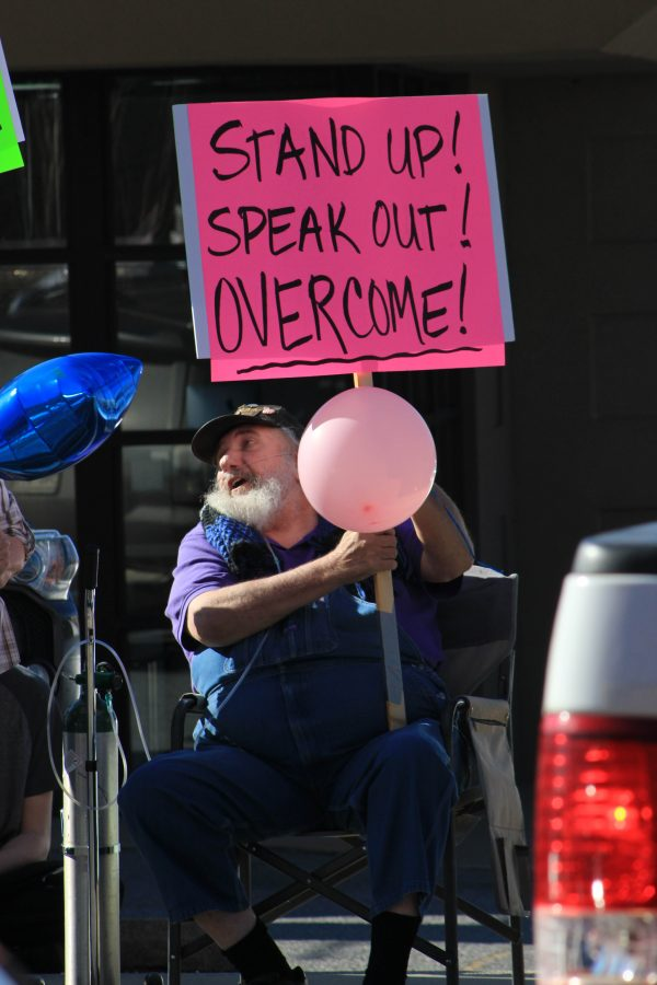 Overcome - Fayetteville man peacefully protests during the