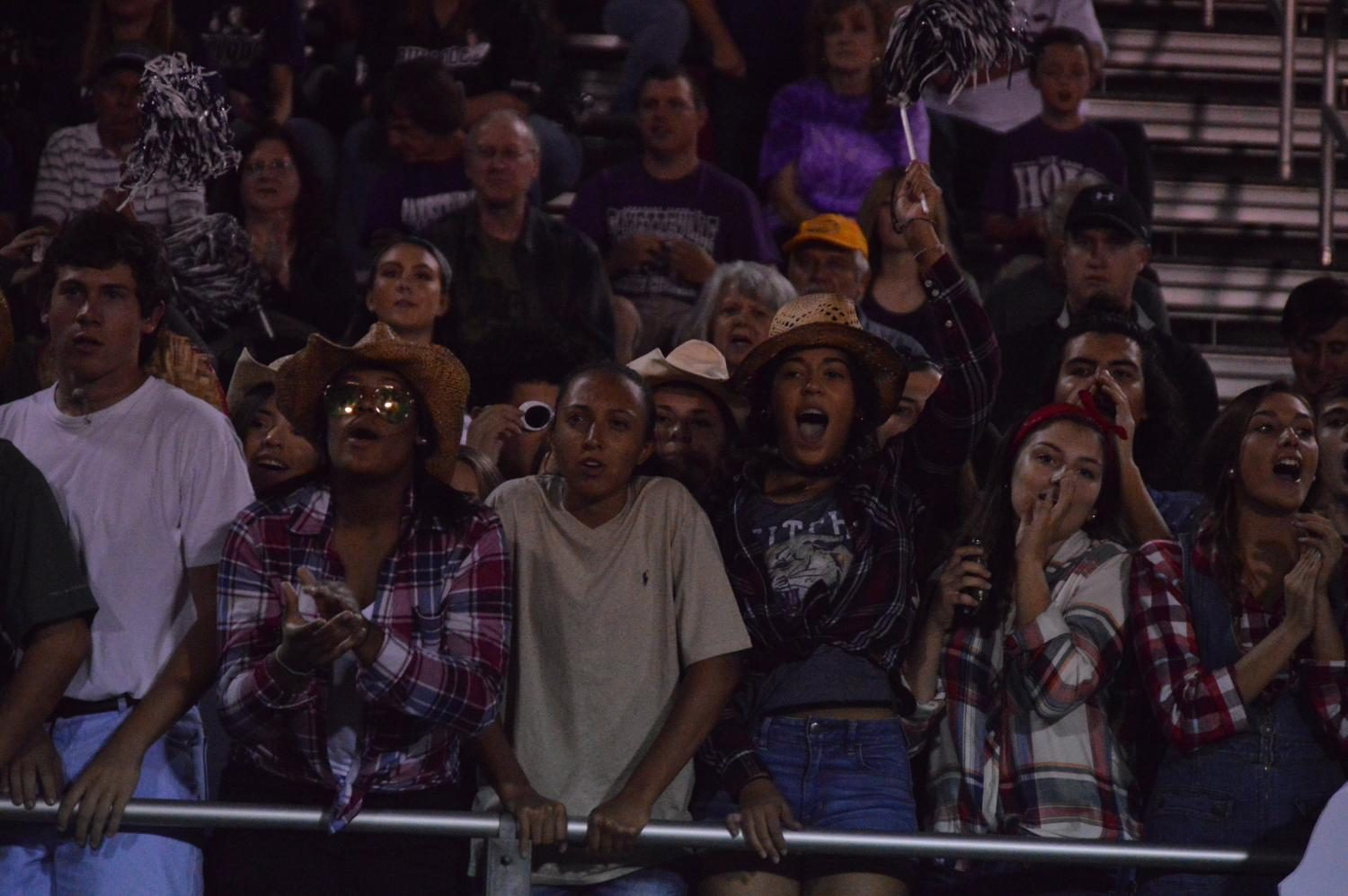 Fayetteville student section in overtime.