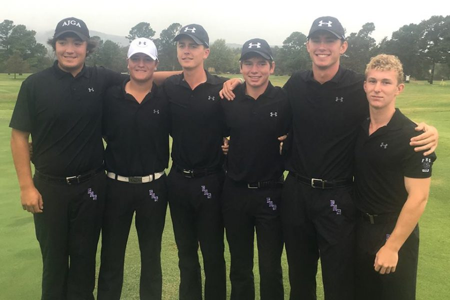 The+FHS+mens+golf+team+poses+during+a+competition.+To+join+next+years+team%2C+try+out+during+the+month+of+April.+
