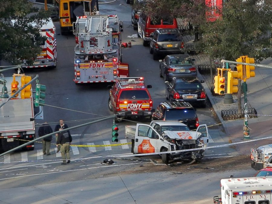 The aftermath of the NYC terror attack which killed eight and injured 13. The suspect is in the hospital under strict security.