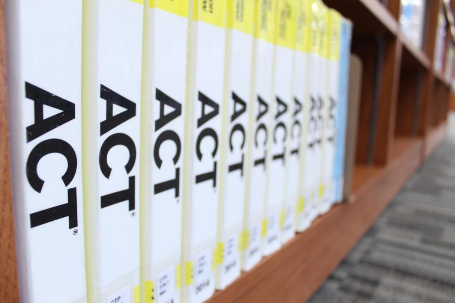 In+the+FHS+library%2C+there+is+a+bookshelf+of+ACT%2C+SAT%2C+and+AP+prep+books+available+to+all+students.+
