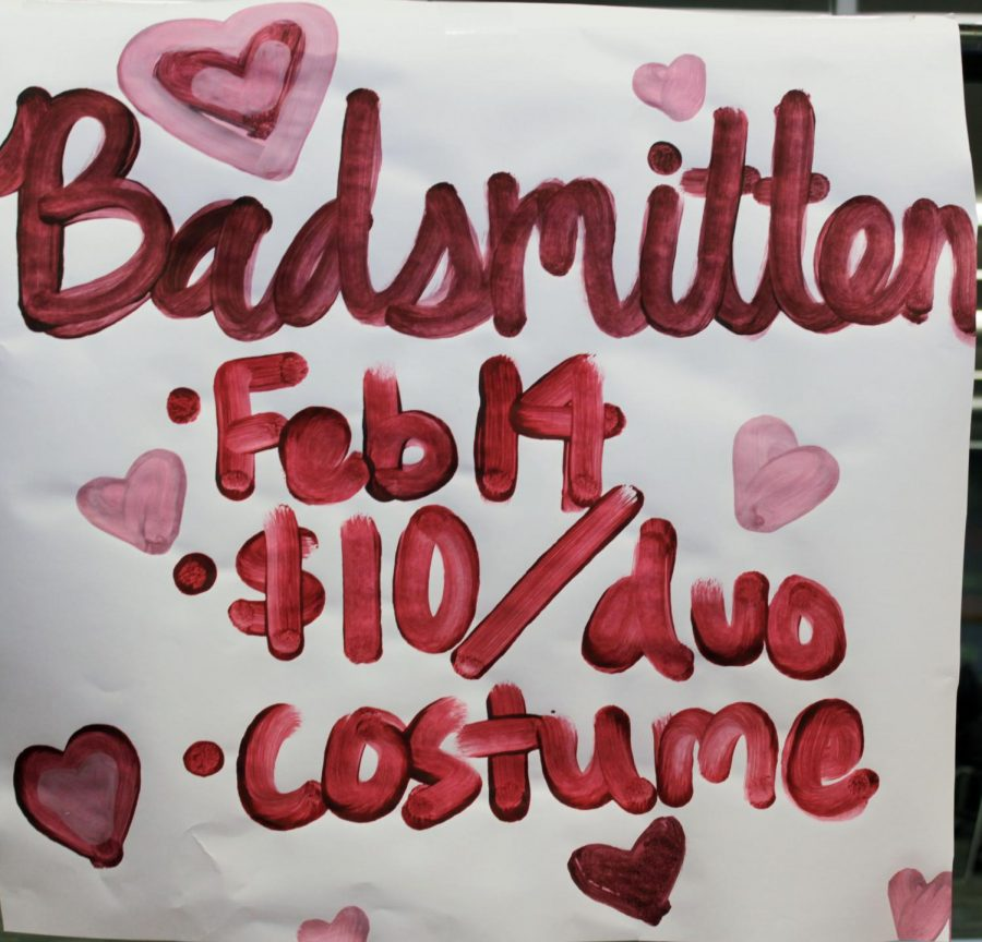 Posters informing students of the Badsmitten event are put up around FHS.