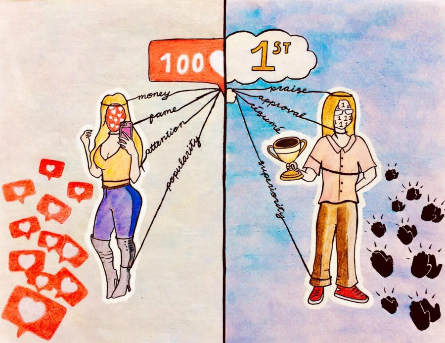 Motivation is not always pure. This illustration shows a few of the desires that manipulate us in our pursuits.