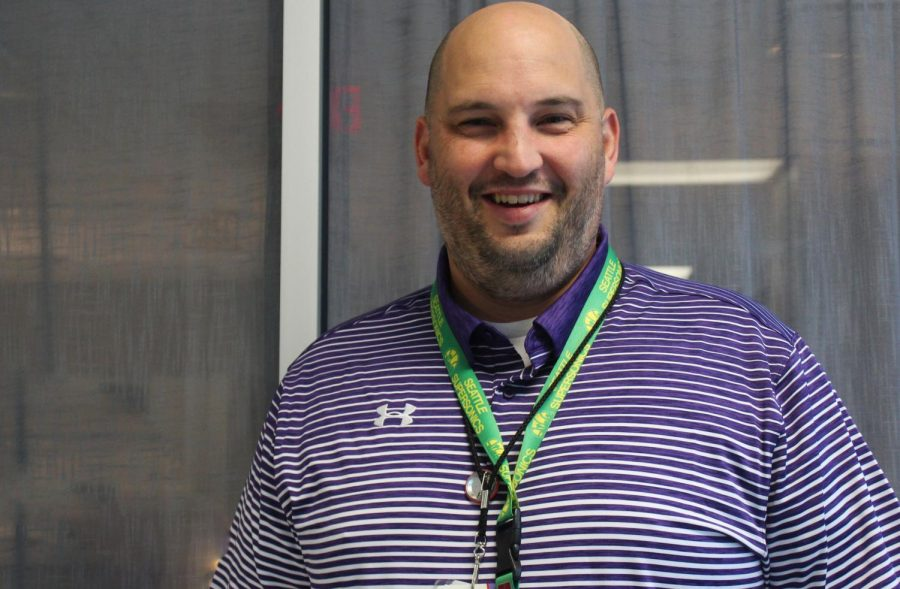 Dr.  Dostal's causal Friday look invites both students and teachers to approach him. He looks forward to the upcoming years.