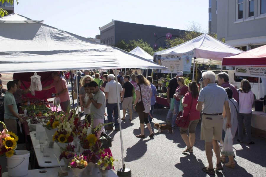The farmers market attracts all sorts of people. From old to young, it's a very popular event in Fayetteville for all ages.