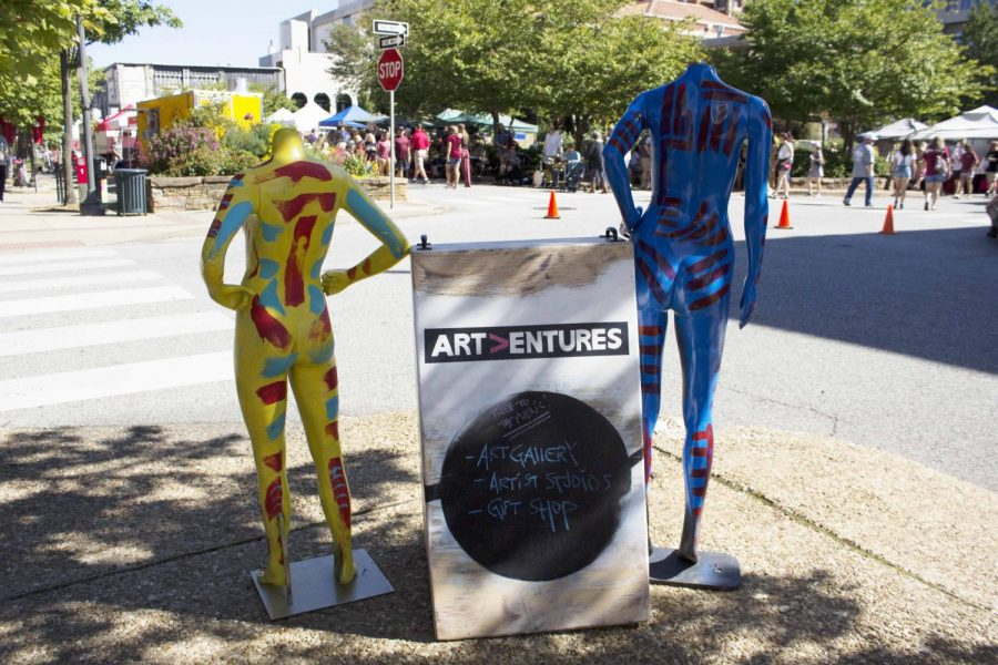 Art Entures is a local gallery located in the downtown Fayetteville square that is dedicated to bringing more attention to local artists and their pieces. They change out their exhibits every month, always having something new to discover.