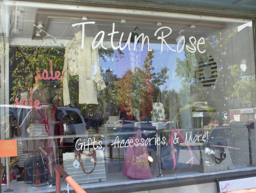 Further down on Block Street is Tatum Rose. Tatum Rose focuses on accessories, gifts, and clothing that follow all the latest trends.