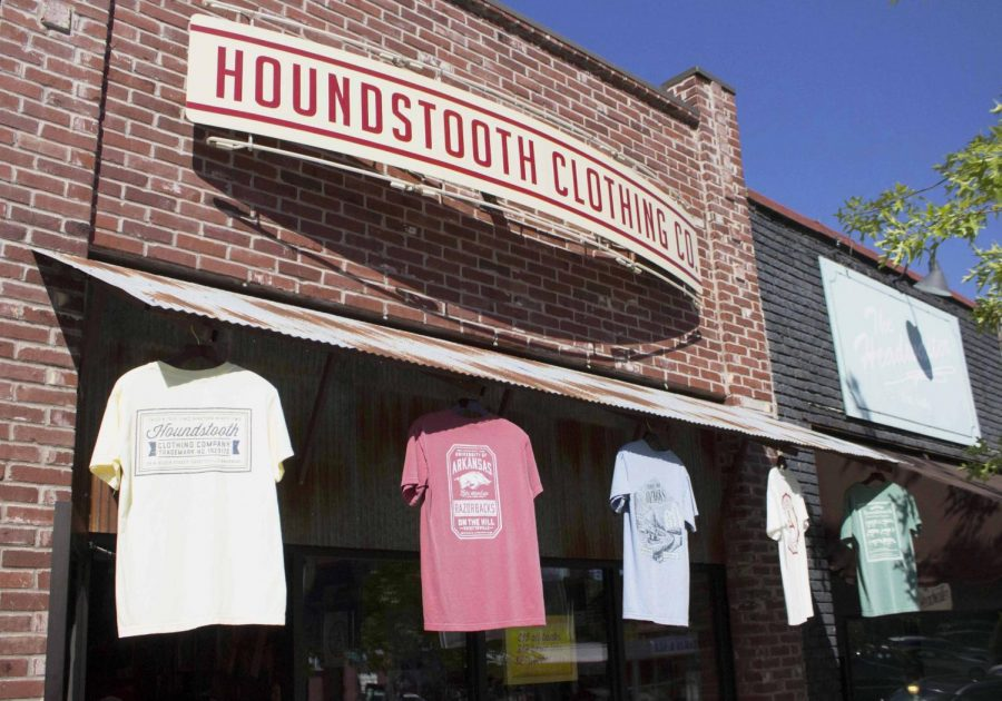 Houndstooth Clothing is one of the most popular stores in Fayetteville. They sell interesting and comfortable shirts specific to Arkansas that celebrate the state.