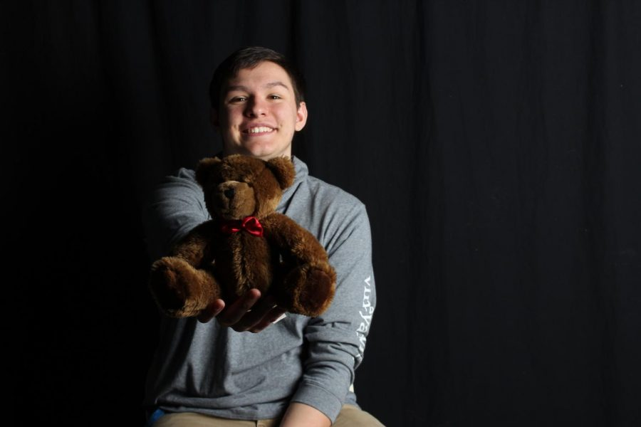 Junior Will Phillips is the perfect example of non-toxic masculinity, Will is unapologeticly emotional and it is shown in this picture as he smiles and plays with the stuffed animal.