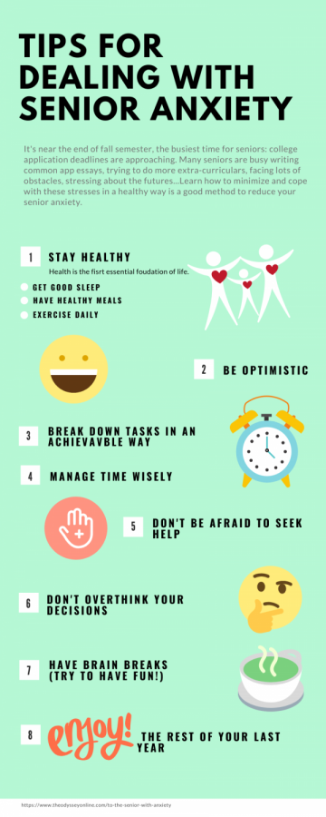 Tips of dealing with senior anxiety