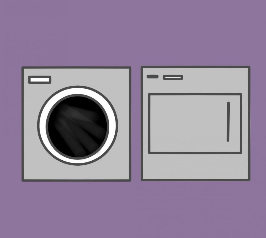 Washer and dryer illustration.